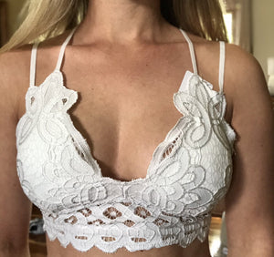 Perfect Cold Shoulder Bralette - Crochet Lace Bralette