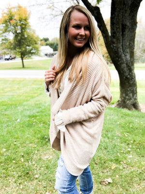 Mind-Full Meditation - Oversized Cream Cardigan