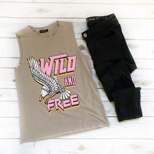Wild and Free - Sleeveless Top
