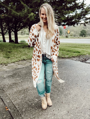In The Wild - Leopard Cardigan
