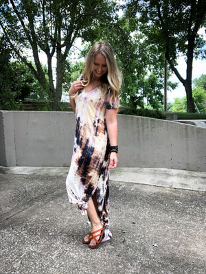 Date Night - Tie Dye Maxi Dress