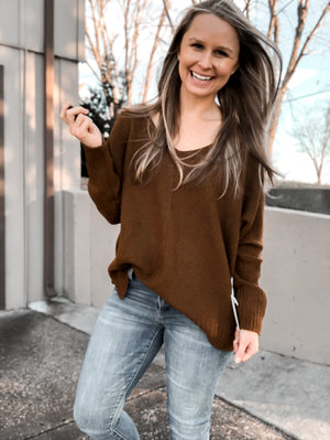 Mid-Day Mocha - Brown Sweater