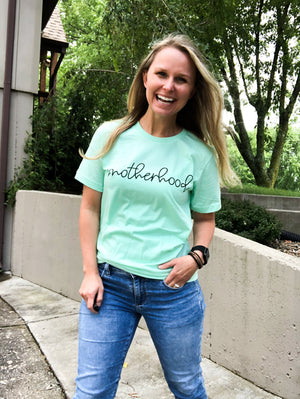 Motherhood - Mint Graphic Tee