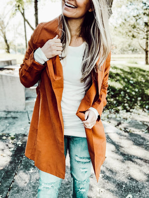 Pumpkin Patch Outing - Rust Jacket