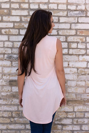 Peach Sleeveless Tunic Top