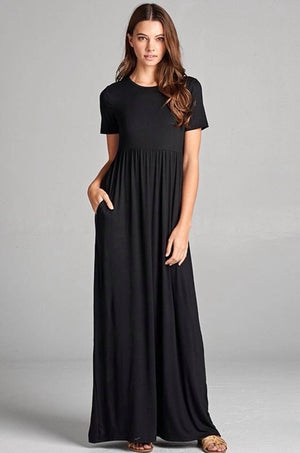 Black Maxi with Pockets