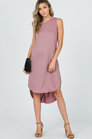 Mauve Sleeveless Dress