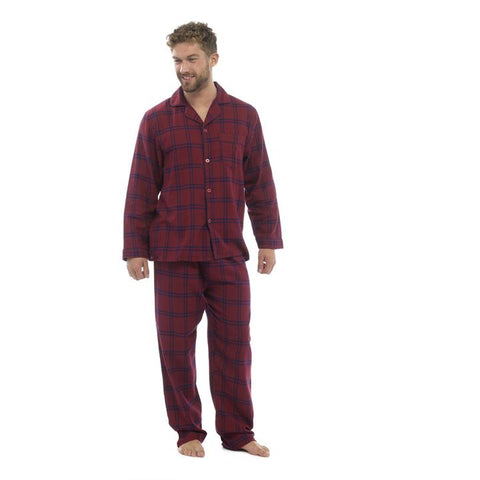 Mens Check Long Pyjamas