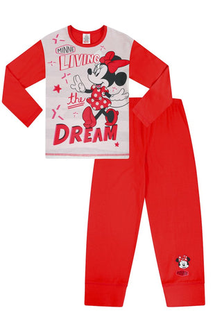 Girls Disney Minnie Mouse Long Pyjamas
