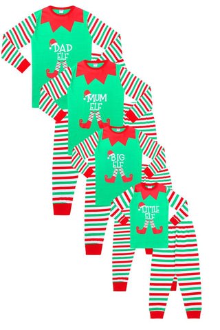 Elf Christmas Matching Family Pyjamas
