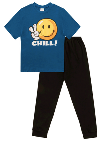 Boys Chill Emoji Pyjamas