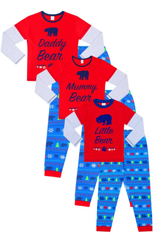 Bear Family Matching Christmas Pyjamas
