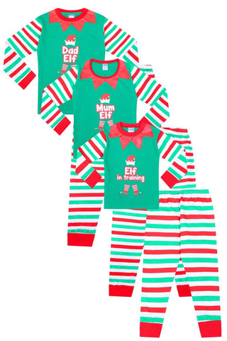 Elf in Training Christmas Matching Family Pyjamas