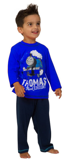 Thomas The Tank Engine Right Track Blue Long Pyjamas