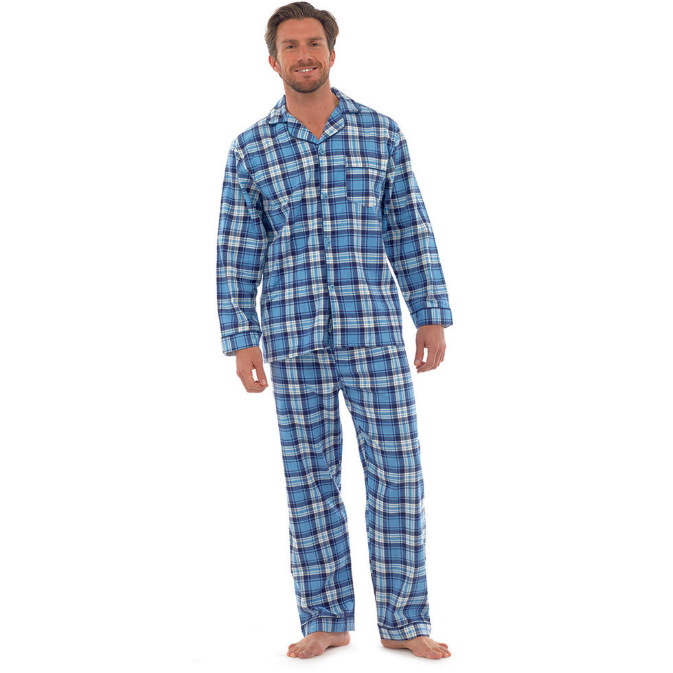 Navy Check Long Pyjamas
