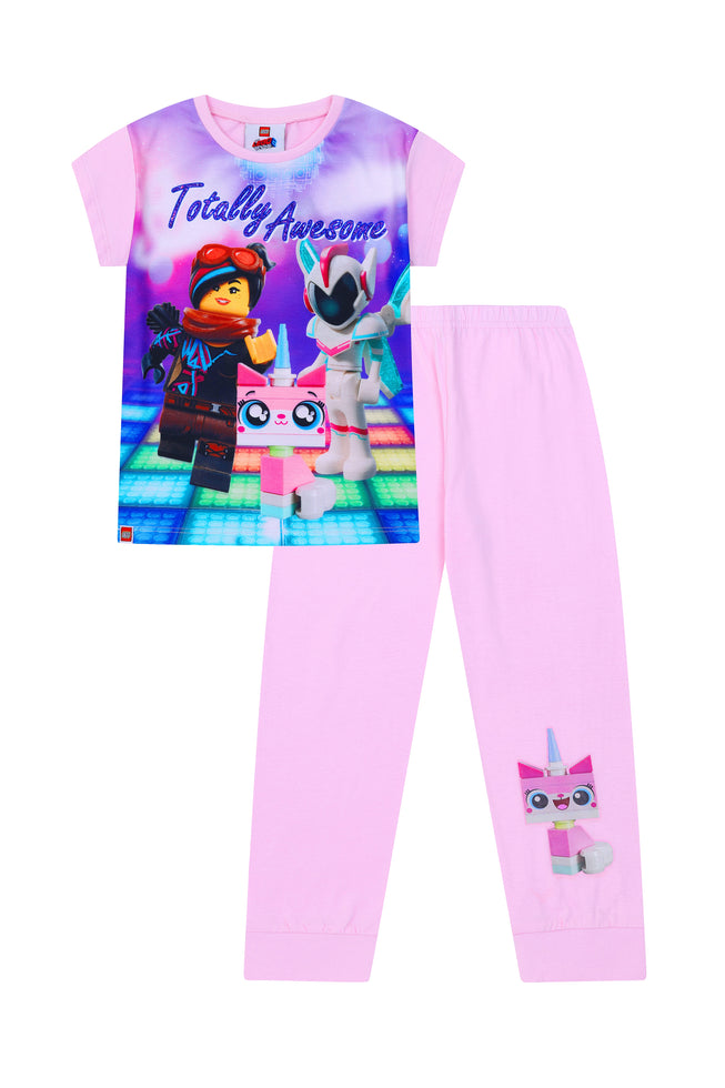 Lego Movie Totally Awesome Unikitty Long Pyjamas Pj Girls Pjs