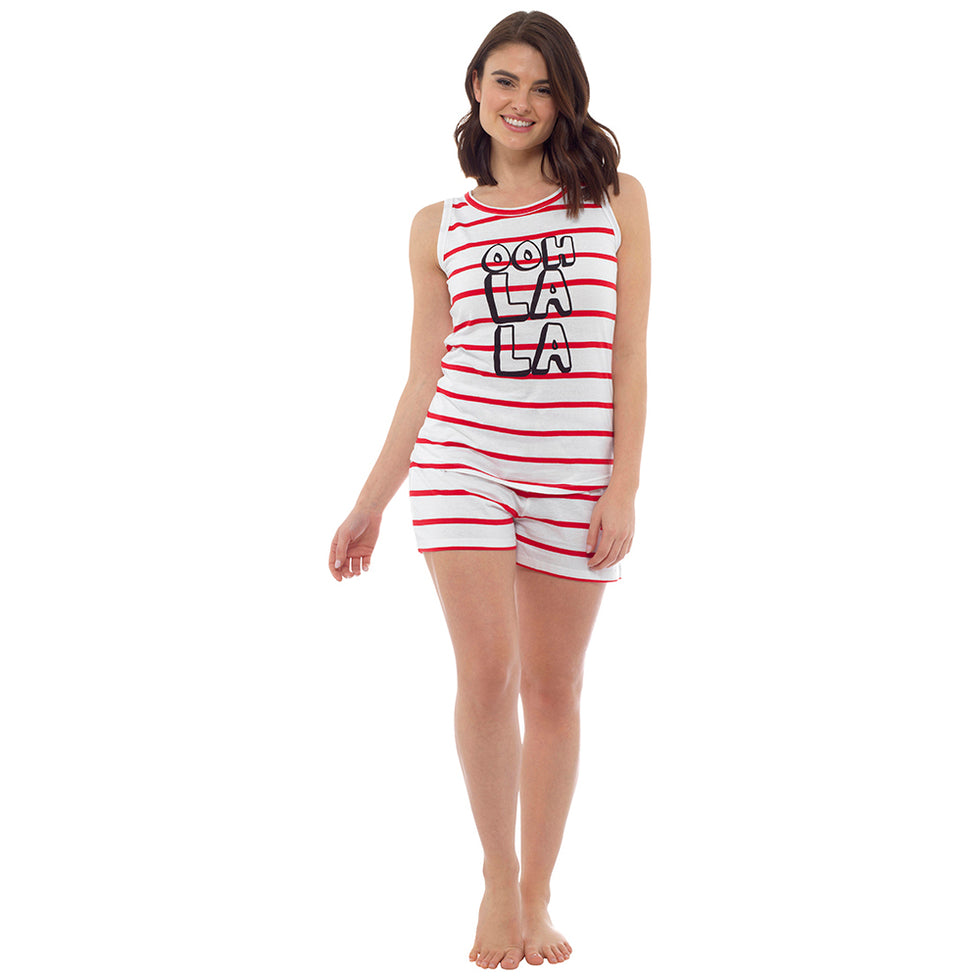 Women's Cotton Ooh Laa Laa Striped Short Ladies Pyjamas,