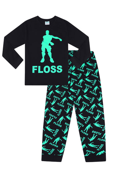 Floss Dance Gaming Pyjamas GREEN Cotton Long