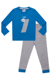Boy's Birthday Pyjamas I am One  Cotton Kids Sleepwear Boys Nightwear