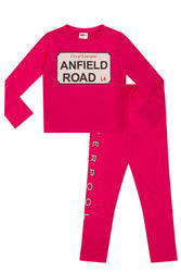 Cool Retro Girls  Liverpool Anfield Road Pyjamas Baby sizes to 13 Years Pink FC