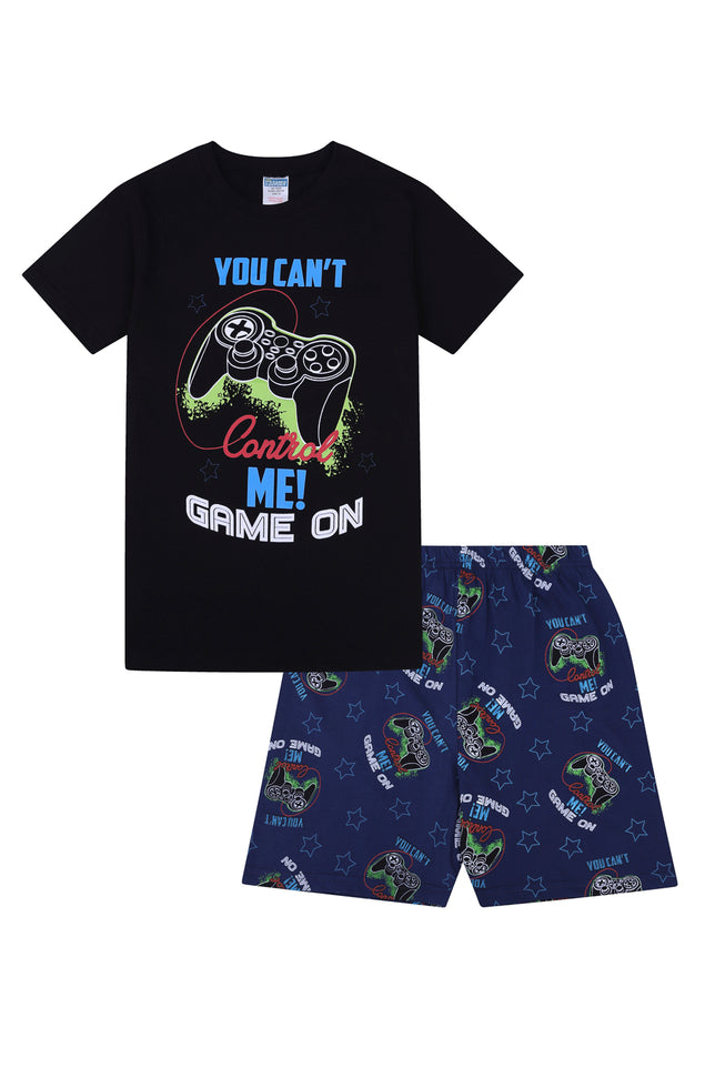 You Can't Control Me Game ON Short Boys Pyjamas