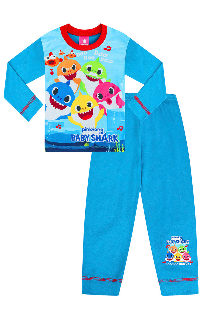 Girls Kids Baby Shark Pyjamas Size Age 18 Months to 5 Years Official PJ Set NEW