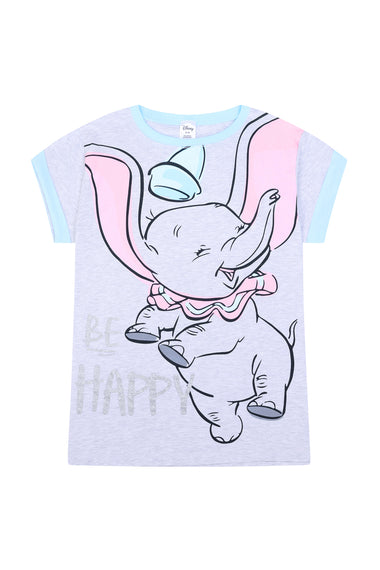 Disney Dumbo Be Happy Long Ladies Cotton Pyjamas