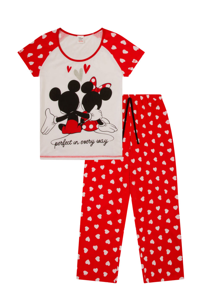 Minnie and Mickey Heart Long Pyjamas