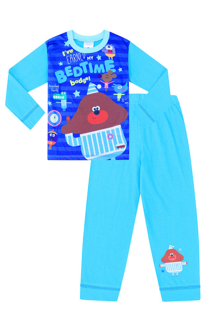Boys I've Earned My Bedtime Badge Hey Duggee Long Blue Pyjamas