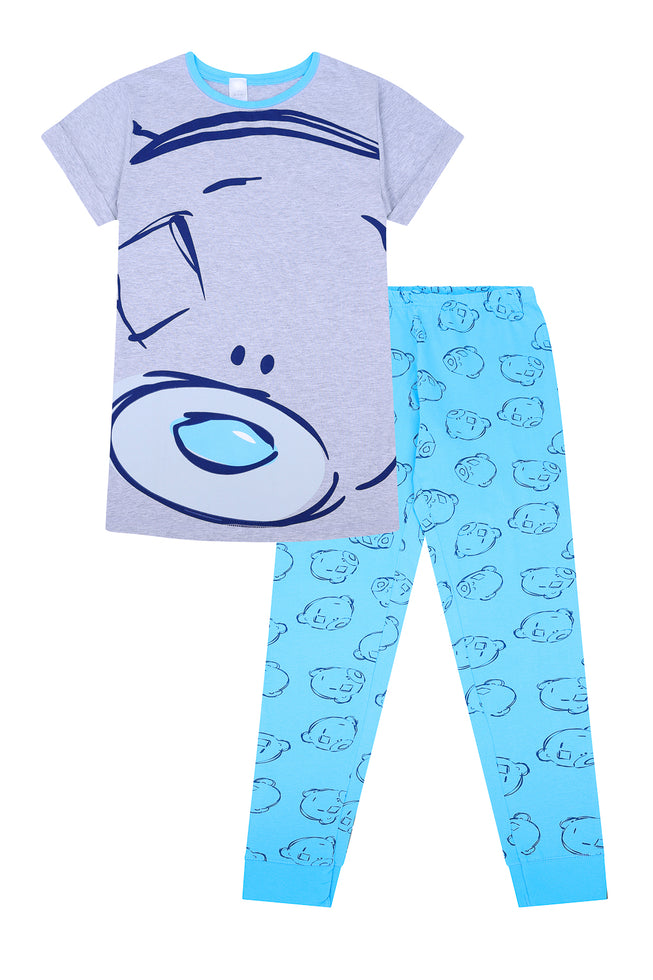 Women's Tatty Teddy Blue Nose Bear Ladies  Long Pyjamas