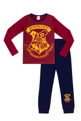 Girls Harry Potter Hogwarts Long Pyjama Set W17