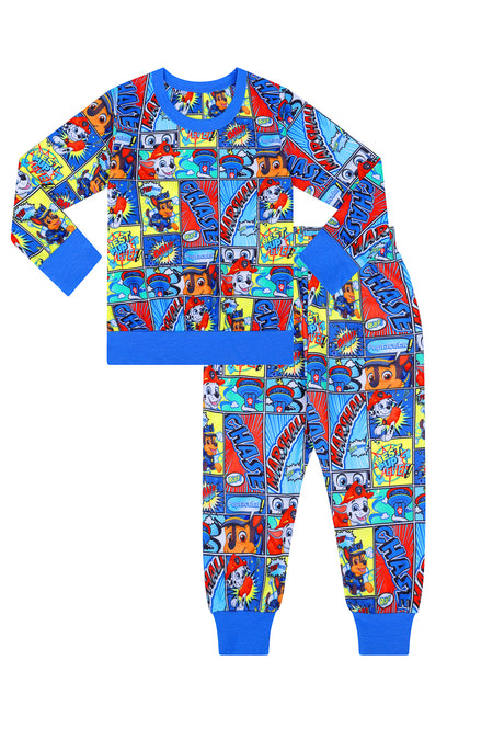All over Design Paw Patrol Cartoon Long Twosie Pyjamas