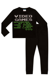 Boys Super Cool Video Games Long Pyjamas Set