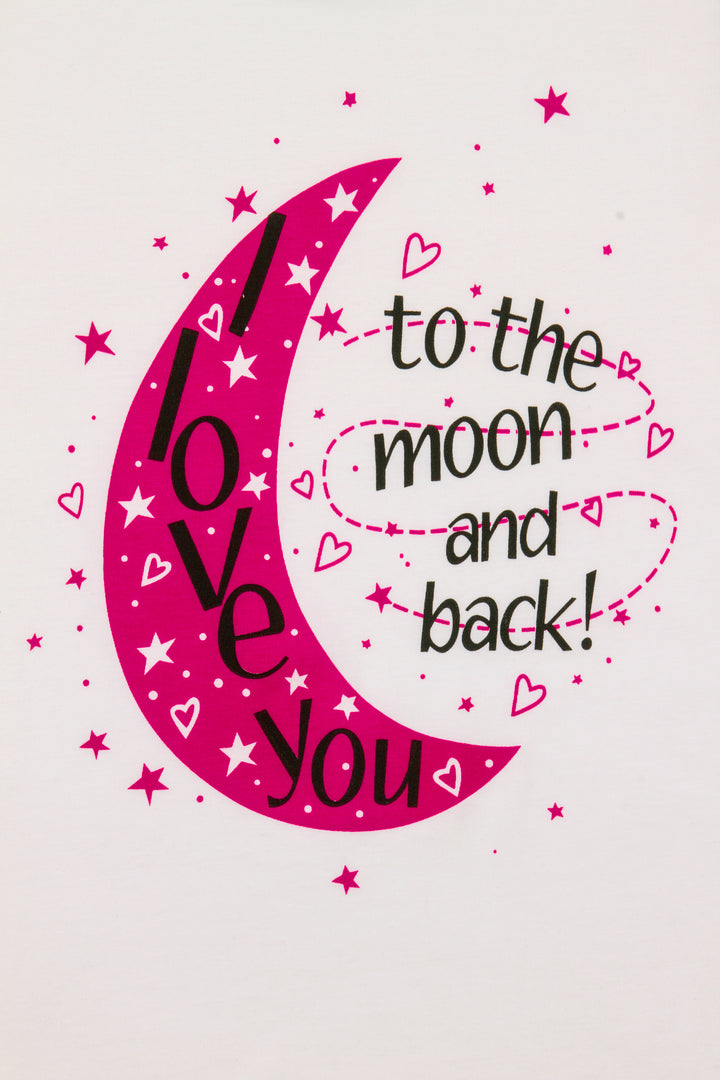 I Love You to The Moon and Back Girls Pyjamas 6 to 13 Years