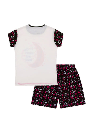I Love You to The Moon Back Girls Short Pyjamas