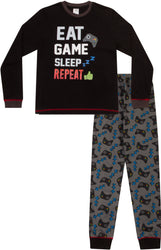 Boys Eat Sleep Game Repeat Controller Long Pyjama Set