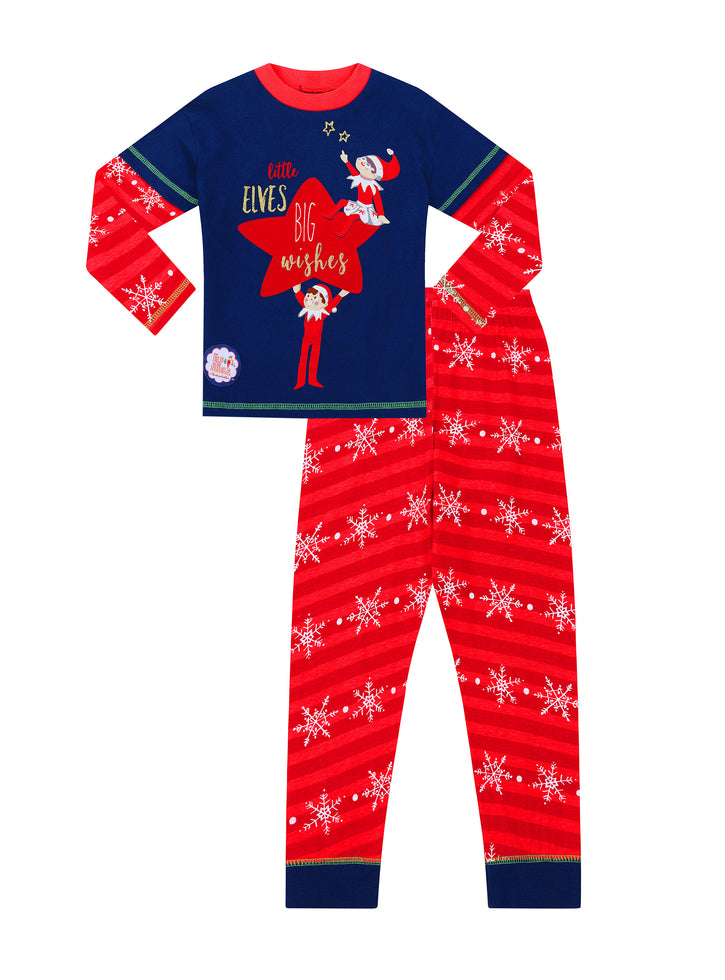 Official The Elf on The Shelf Ladies Long Pyjamas Christmas PJs