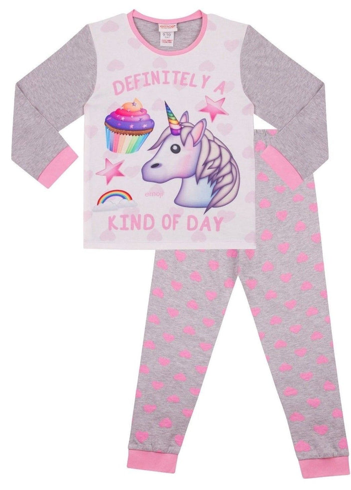 Definitely a Kind of Day Emoji Unicorn Cupcakes Long Pyjamas Girls