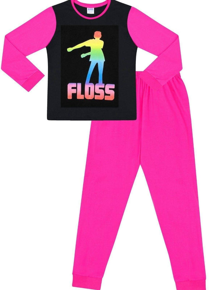 Girls Floss Dance Rainbow Cotton Long Pyjamas