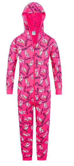 Floss Like a Boss UNICORN Onesie Gaming Pink Cotton All In One All Over Design