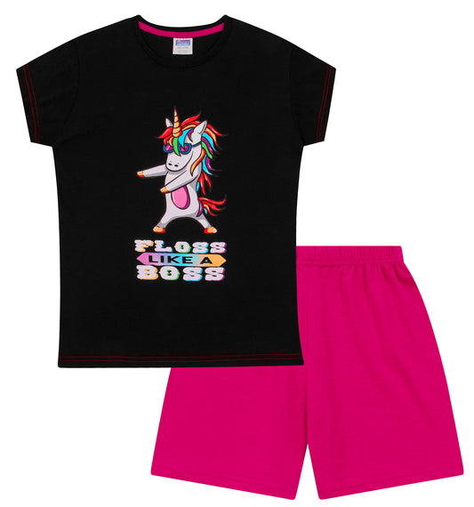 Floss Like a Boss Unicorn Short Pyjamas