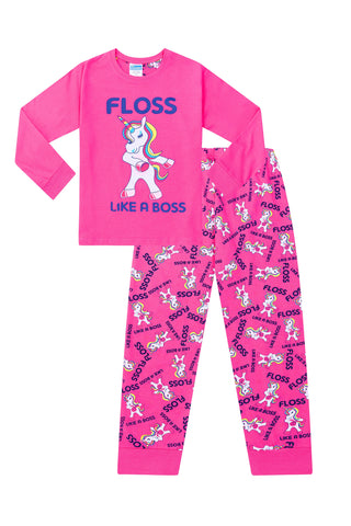 a7c51ca35f Floss Like a Boss UNICORN Pyjamas Gaming Pink Cotton