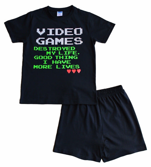 Video Game Lives Short Pyjamas