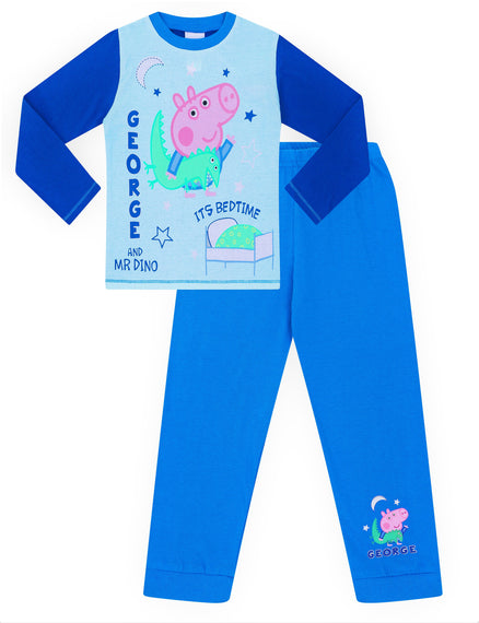 b5b21e357c50 George Pig and Mr Dino Time For Bed Pyjamas George Cotton Peppa Pjs ...