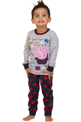 "Boys George Pig ""Santa's List"" Long Pyjama Set"