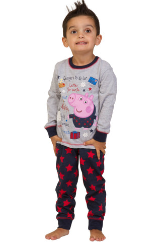 "George Pig ""Santa's List"" Long Pyjamas"