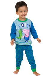 Boys George Pig & Dinosaur Long Pyjama Set