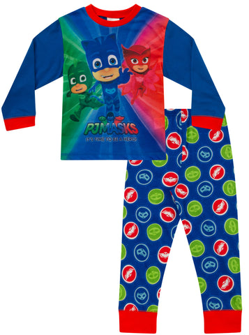 "PJ Masks Pyjamas ""It's Time To Be A Hero"" Long"