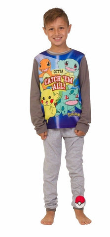Pokemon Gotta Catch 'Em All Boys Long Pyjamas