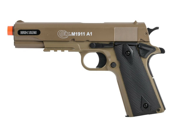 Refurbished Colt M1911A1 HPA Metal Slide Airsoft Spring Pistol -TAN